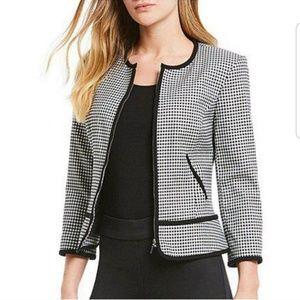 NWT Calvin Klein Gingham Black & White Suit Jacket